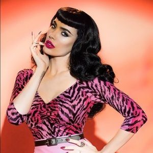 Pinup couture 50s deadly dames jailbird top